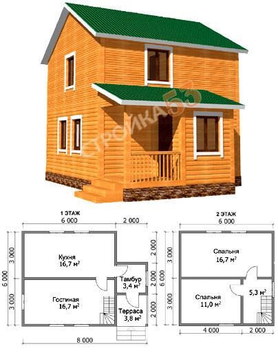 Дачный дом из бруса строим своими руками