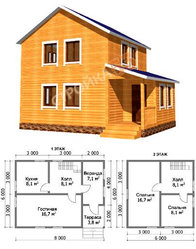 Строим дом из бруса проекты